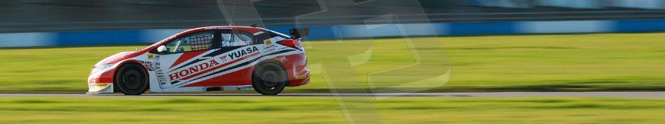 "World © Octane Photographic Ltd. Donington Park general unsilenced test day, 13th February 2014. Honda Yuasa British Touring Car Championship (BTCC) 2013 specification Honda Civic Tyre R (K20) - Gordon ""Flash"" Shedden. Digital Ref : 0891cb1d2341"