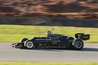 World © Octane Photographic Ltd. Donington Park general unsilenced test day, 13th February 2014. FIA Historic Formula 1 (F1) Championship. Ex-Gunnar Nilsson Lotus 76. Digital Ref : 0891cb1d2426