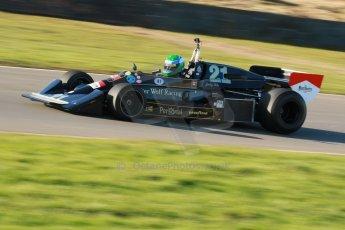 World © Octane Photographic Ltd. Donington Park general unsilenced test day, 13th February 2014. FIA Historic Formula 1 (F1) Championship. Ex-Jackie Ickx Wolf Williams FW05. Digital Ref : 0891cb1d2555