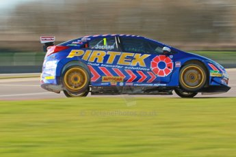 World © Octane Photographic Ltd. Donington Park general unsilenced test day, 13th February 2014. Pirtek Racing (Eurotech) Honda Civic NGTC - Andy Jordan. Digital Ref : 0891cb1d2629