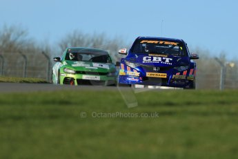 World © Octane Photographic Ltd. Donington Park general unsilenced test day, 13th February 2014. Pirtek Racing (Euroech) Honda Civic NGTC - Andy Jordan. Digital Ref : 0891cb1d3854