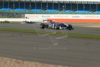 World © Octane Photographic Ltd. FIA European F3 Championship, Silverstone, UK, April 19th 2014 - Race 1. Carlin – Dallara F312 Volkswagen – Ed Jones. Digital Ref : 0909lb1d6886