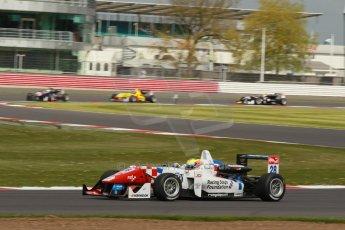World © Octane Photographic Ltd. FIA European F3 Championship, Silverstone, UK, April 19th 2014 - Race 2. Carlin – Dallara F312 Volkswagen – Jake Dennis. Digital Ref : 0910lb1d1382