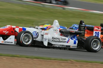 World © Octane Photographic Ltd. FIA European F3 Championship, Silverstone, UK, April 19th 2014 - Race 2. Carlin – Dallara F312 Volkswagen – Jake Dennis. Digital Ref : 0910lb1d7328