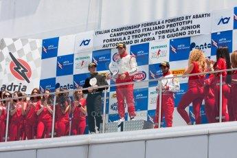 World © MaltaFormulaRacing. FIA F4 Italia Adria International Speedway - June 8th 2014. Tatuus F4 T014 Abarth. Digital Ref : 0989MS4859