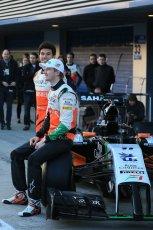 World © Octane Photographic Ltd. 2014 Formula 1 Winter Testing, Circuito de Velocidad, Jerez. Tuesday 27th January 2014. Sahara Force India VJM07 launched by Nico Hulkenburg and Sergio Perez. Digital Ref: 0883lb1d9986