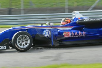 World © Octane Photographic Ltd. Cooper Tyres British Formula 3 Media Day, Castle Donington, Tuesday 8th April 2014. Carlin - Dallara F310 Volkwagen - Peter Li Zhi Cong. Digital Ref : 0903lb1d3848