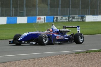 World © Octane Photographic Ltd. Cooper Tyres British Formula 3 Media Day, Castle Donington, Tuesday 8th April 2014. Carlin - Dallara F310 Volkwagen - Peter Li Zhi Cong. Digital Ref : 0903lb1d4064