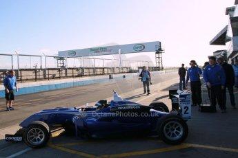 World © Octane Photographic Ltd. Cooper Tyres British Formula 3 Media Day, Castle Donington, Tuesday 8th April 2014. Carlin - Dallara F310 Volkwagen - Sam Brabham. Digital Ref : 0903lb1d9675