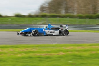 World © Octane Photographic Ltd. Cooper Tyres British Formula 3 Media Day, Castle Donington, Tuesday 8th April 2014. Double R Racing - Andy Chang - Dallara F312 Mercedes HWA. Digital Ref : 0903lb1d9834