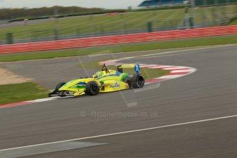 World © Octane Photographic Ltd. BRDC Formula 4 Championship. MSV F4-013. Silverstone, Sunday 27th April 2014. Petroball Racing – Gaetano di Mauro. Digital Ref : 0916lb1d2228