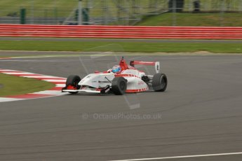 World © Octane Photographic Ltd. BRDC Formula 4 Championship. MSV F4-013. Silverstone, Sunday 27th April 2014. Lanan Racing – George Russell. Digital Ref : 0916lb1d2265