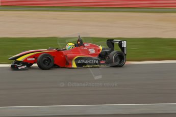 World © Octane Photographic Ltd. BRDC Formula 4 Championship. MSV F4-013. Silverstone, Sunday 27th April 2014. Chris Dittmann Racing (CDR) - Tom Jackson. Digital Ref : 0916lb1d2345