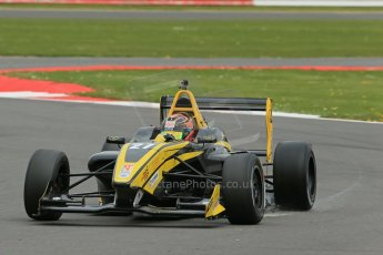 World © Octane Photographic Ltd. BRDC Formula 4 Championship. MSV F4-013. Silverstone, Sunday 27th April 2014. Sean Walkinshaw Racing (SWR) – Nicolas Beer. Digital Ref : 0916lb1d9746