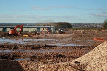 World © Octane Photographic Ltd. 7th February 2014 - FIA Formula E Head Quarters under construction - Donington Park. Digital Ref : 0890CB1D1939