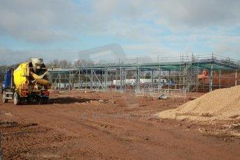 World © Octane Photographic Ltd. 18th February 2014 - FIA Formula E Head Quarters under construction - Donington Park. Digital Ref : 0890cb1d3019