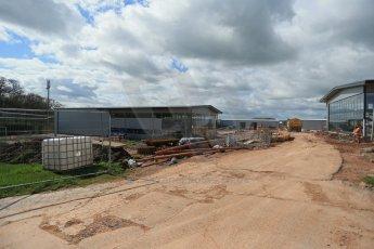 World © Octane Photographic Ltd. 8th April 2014 - FIA Formula E Head Quarters under construction - Donington Park. Digital Ref : 0890lb1d4171