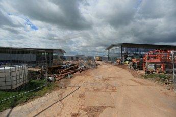 World © Octane Photographic Ltd. 8th April 2014 - FIA Formula E Head Quarters under construction - Donington Park. Digital Ref : 0890lb1d4194