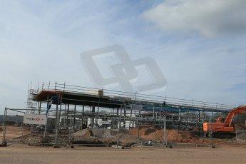 World © Octane Photographic Ltd. 4th March 2014 - FIA Formula E Head Quarters under construction - Donington Park. Digital Ref : 0890lb1d5232