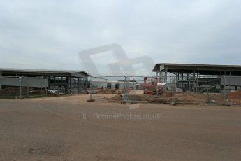 World © Octane Photographic Ltd. 20th March 2014 - FIA Formula E Head Quarters under construction - Donington Park. Digital Ref : 0890lb1d6097