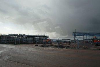 World © Octane Photographic Ltd. 27th February 2014 - FIA Formula E Head Quarters under construction - Donington Park. Digital Ref : 0890lw1d3035