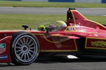 World © Octane Photographic Ltd. FIA Formula E testing – Donington Park 19th August 2014. Spark-Renault SRT_01E. China Racing – Nelson Piquet Jnr. Digital Ref : 1077LB1D5385
