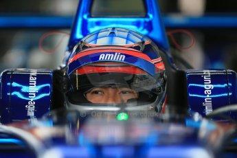 World © Octane Photographic Ltd. FIA Formula E testing – Donington Park 19th August 2014. Spark-Renault SRT_01E. Amlin Aguri – Takuma Sato. Digital Ref : 1077LB1D5417