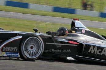 World © Octane Photographic Ltd. FIA Formula E testing – Donington Park 19th August 2014. Spark-Renault SRT_01E. Dragon Racing – Jerome d'Ambrosio. Digital Ref : 1077LB1D5418