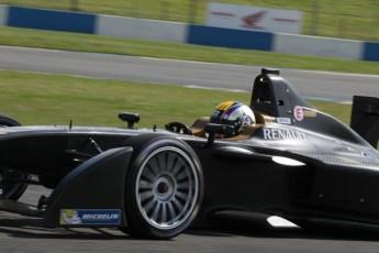 World © Octane Photographic Ltd. FIA Formula E testing – Donington Park 19th August 2014. Spark-Renault SRT_01E. Amlin Aguri - Katherine Legge. Digital Ref : 1077LB1D5430