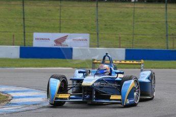 World © Octane Photographic Ltd. FIA Formula E testing – Donington Park 19th August 2014. Spark-Renault SRT_01E. e.dams-Renault - Sebastien Buemi. Digital Ref :