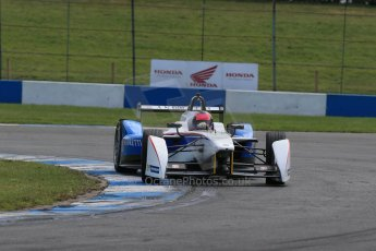 World © Octane Photographic Ltd. FIA Formula E testing – Donington Park 19th August 2014. Spark-Renault SRT_01E. Andretti Autosport - Franck Montagny. Digital Ref :