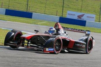 World © Octane Photographic Ltd. FIA Formula E testing – Donington Park 19th August 2014. Spark-Renault SRT_01E. Venturi - Stephane Sarrazin. Digital Ref : 1077LB1D5947