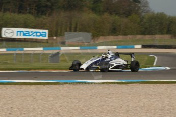 World © Octane Photographic Ltd. Donington Park test, Thursday 17th April 2014. Dunlop MSA Formula Ford Championship of Great Britain. JTR - Sam Brabham - Mygale M12-SJ/Mountune. Digital Ref : 0905lb1d0231