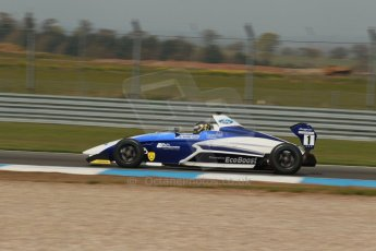 World © Octane Photographic Ltd. Donington Park test, Thursday 17th April 2014. Dunlop MSA Formula Ford Championship of Great Britain. JTR - Sam Brabham - Mygale M12-SJ/Mountune. Digital Ref : 0905lb1d0237