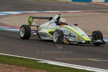 World © Octane Photographic Ltd. Donington Park test, Thursday 17th April 2014. Dunlop MSA Formula Ford Championship of Great Britain. Meridian Motorsport - Ashley Bobby Thompson - Mygale M12-SJ/Scholar. Digital Ref : 0905lb1d0347