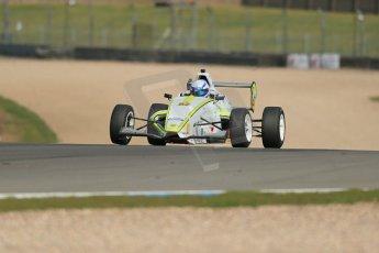 World © Octane Photographic Ltd. Donington Park test, Thursday 17th April 2014. Dunlop MSA Formula Ford Championship of Great Britain. Meridian Motorsport - Connor Mills - Mygale M12-SJ/Scholar. Digital Ref : 0905lb1d4264