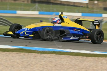 World © Octane Photographic Ltd. Donington Park test, Thursday 17th April 2014. Dunlop MSA Formula Ford Championship of Great Britain. Falcon Motorsport - Ricky Collard - Mygale M12-SJ/Swindon. Digital Ref : 0905lb1d4396