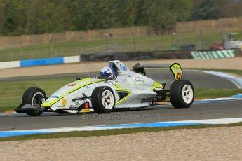 World © Octane Photographic Ltd. Donington Park test, Thursday 17th April 2014. Dunlop MSA Formula Ford Championship of Great Britain. Meridian Motorsport - Connor Mills - Mygale M12-SJ/Scholar. Digital Ref : 0905lb1d4471