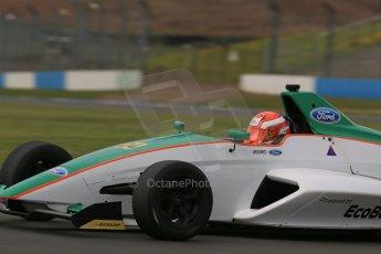 World © Octane Photographic Ltd. Donington Park test, Thursday 17th April 2014. Dunlop MSA Formula Ford Championship of Great Britain. Richardson Racing - Ovie Iroro - Mygale M12-SJ/Scholar. Digital Ref : 0905lb1d4704