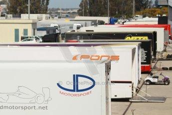 World © Octane Photographic Ltd. Eurocup Formula Renault 2.0 Championship testing. Jerez de la Frontera, Thursday 27th March 2014. Paddock. Digital Ref :  0900cb1d7773