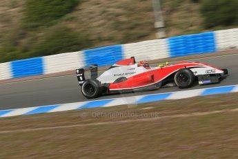 World © Octane Photographic Ltd. Eurocup Formula Renault 2.0 Championship testing. Jerez de la Frontera, Thursday 27th March 2014. Fortec Motorsports – Jack Aitken. Digital Ref :  0900lb1d0882