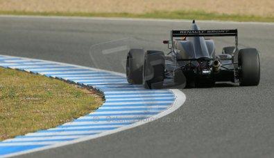 World © Octane Photographic Ltd. Eurocup Formula Renault 2.0 Championship testing. Jerez de la Frontera, Thursday 27th March 2014 – Alexander Albon. KTR. Digital Ref :  0900lb1d0982
