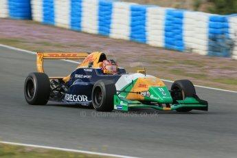World © Octane Photographic Ltd. Eurocup Formula Renault 2.0 Championship testing. Jerez de la Frontera, Thursday 27th March 2014. Manor MP Motorsports – Steijn Schothorst. Digital Ref :  0900lb1d1267