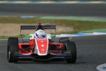 World © Octane Photographic Ltd. Eurocup Formula Renault 2.0 Championship testing. Jerez de la Frontera, Thursday 27th March 2014. Fortec Motorsports – Martin Rump. Digital Ref :  0900lb1d1518
