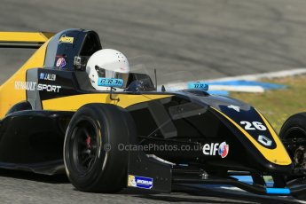 World © Octane Photographic Ltd. Eurocup Formula Renault 2.0 Championship testing. Jerez de la Frontera, Thursday 27th March 2014. Arta Engineering – James Allen. Digital Ref :  0900lb1d1737