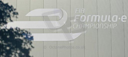 World © Octane Photographic Ltd. FIA Formula E testing Donington Park 10th July 2014. FIA Formula E logo. Digital Ref : 1032CB1D3259