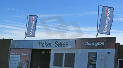 World © Octane Photographic Ltd. FIA Formula E testing Donington Park 10th July 2014. Ticket office. Digital Ref : 1032CB1D3261