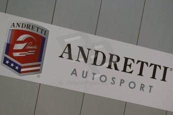 World © Octane Photographic Ltd. FIA Formula E testing Donington Park 10th July 2014. Andretti Autosport logo. Digital Ref : 1032CB1D3269