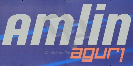 World © Octane Photographic Ltd. FIA Formula E testing Donington Park 10th July 2014. Amlin Aguro logo. Digital Ref : 1032CB1D3274