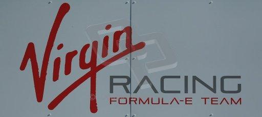 World © Octane Photographic Ltd. FIA Formula E testing Donington Park 10th July 2014. Virgin Racing logo. Digital Ref : 1032CB1D3281